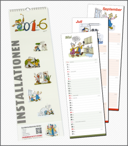 "Karikaturen-Kalender ""Installationen 2016"""