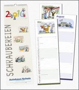 "Karikatur-Kalender ""Schraubereien 2016"""