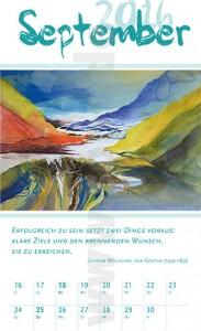 Lebensgefühle-Kalender 2016 Kalenderblatt September